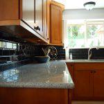 Silver Lake WA Kitchen Ceramic Tile Light Granite Countertop