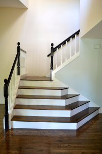Bannister Remodel Addition Hardwood Painted Millwork Mill Creek WA