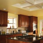 Seattle WA Kitchen Remodel Coffered Ceiling Granite Countertops Porcelain Tile