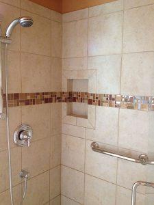 Master Bath Snohomish WA Tiled Shower Enclosure