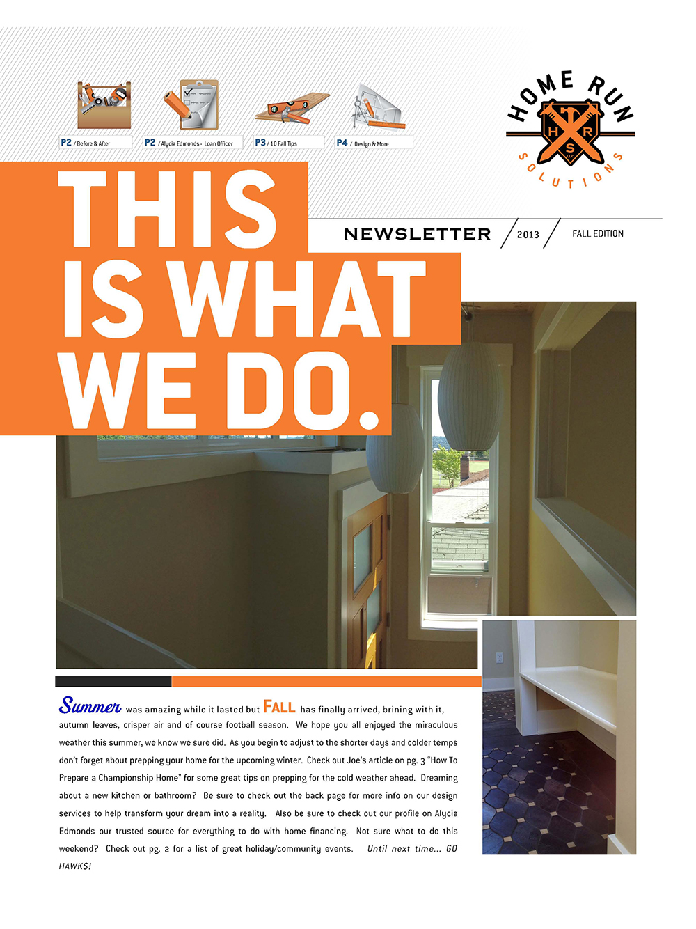 Home Run Solutions Fall Newsletter pg1