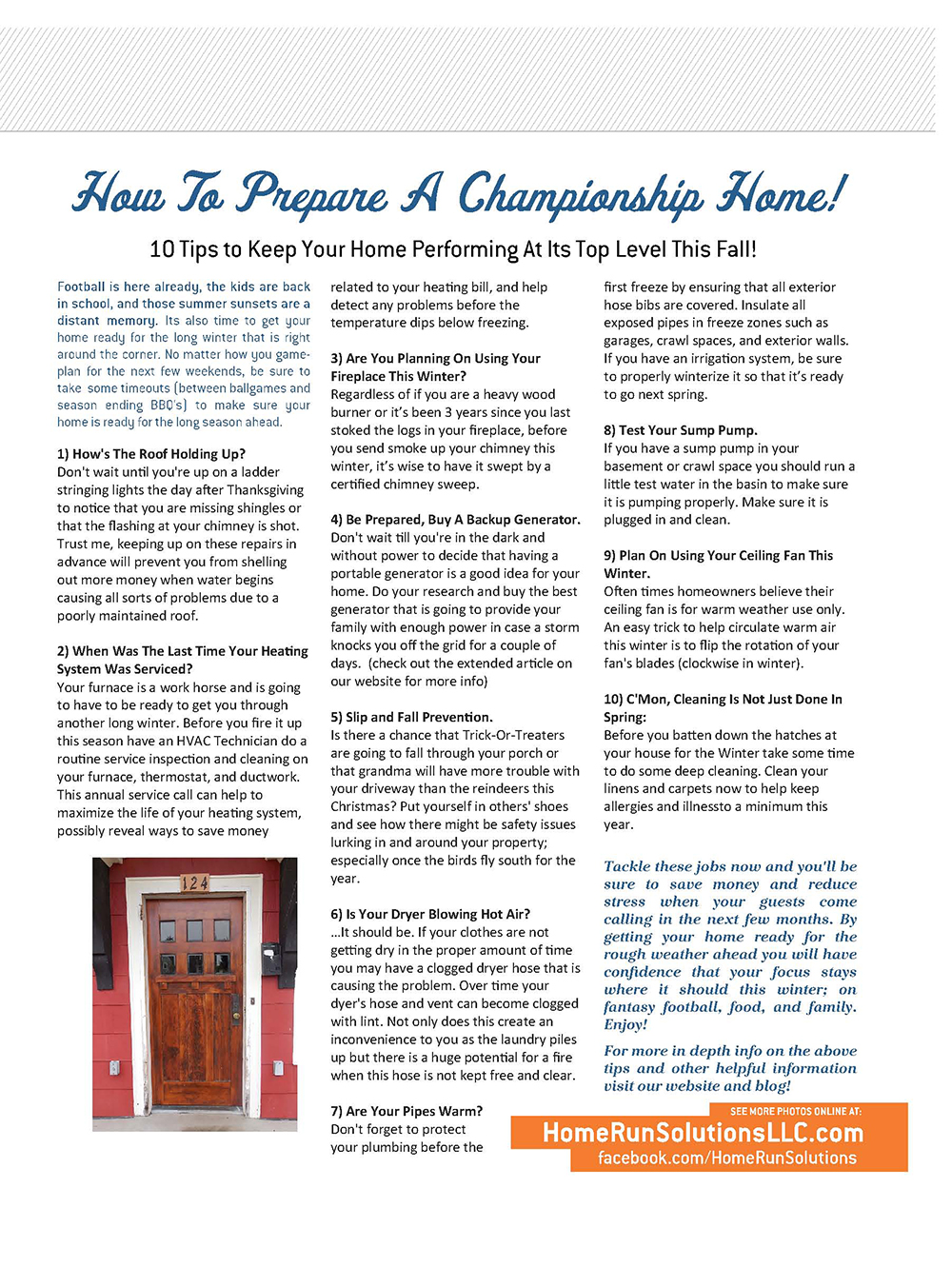 Home Run Solutions Fall Newsletter pg3
