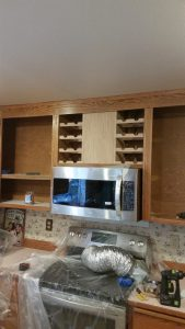 Wine Rack Built-In Oak Popular Kitchen Remodel
