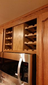 Kitchen Wine Rack Remodel Service Renovation Everett WA