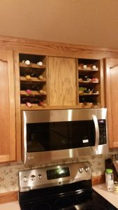 Kitchen Wine Rack Custom Cabinetry Remodel Built-In