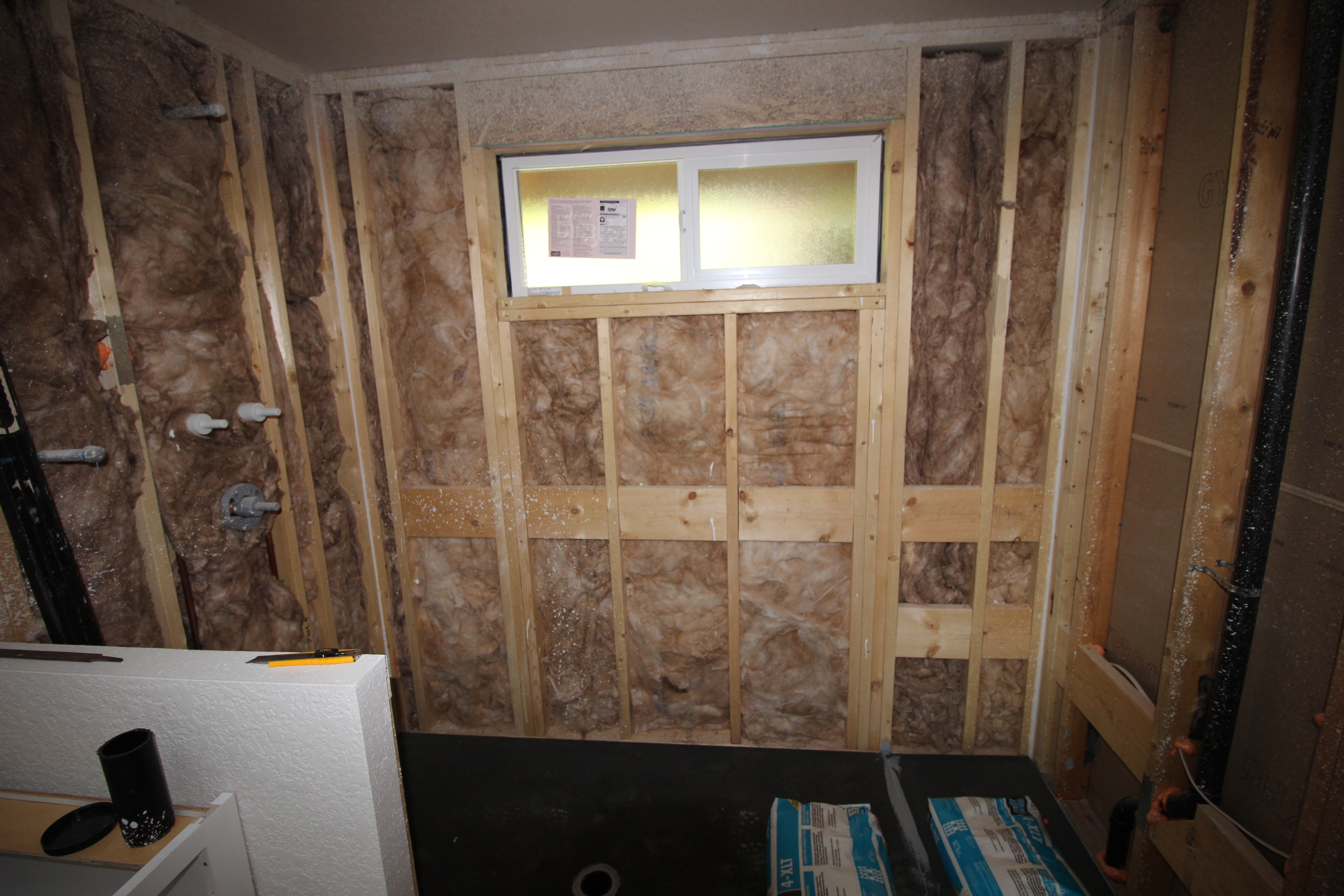 Bath Contractor Gallery Addition Backing Framing Insulation