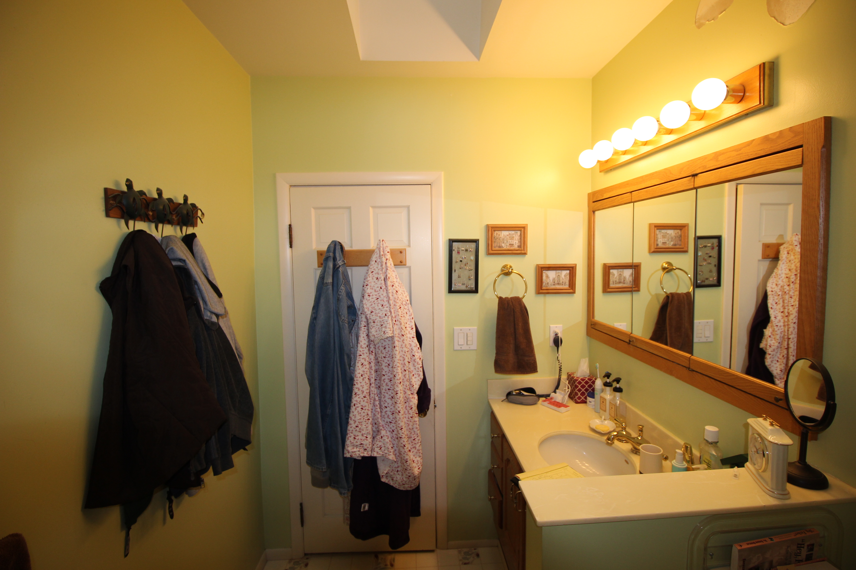 Before vanity photo home run solutions Local bathroom remodeling