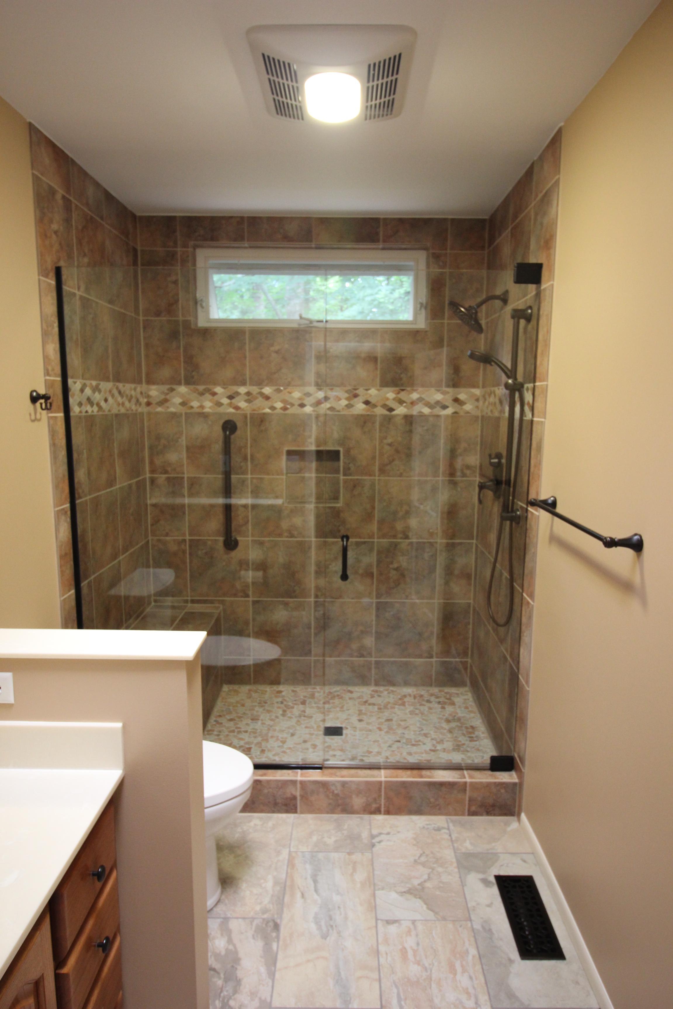 Frameless glass shower door home run solutions for Bath remodel pro