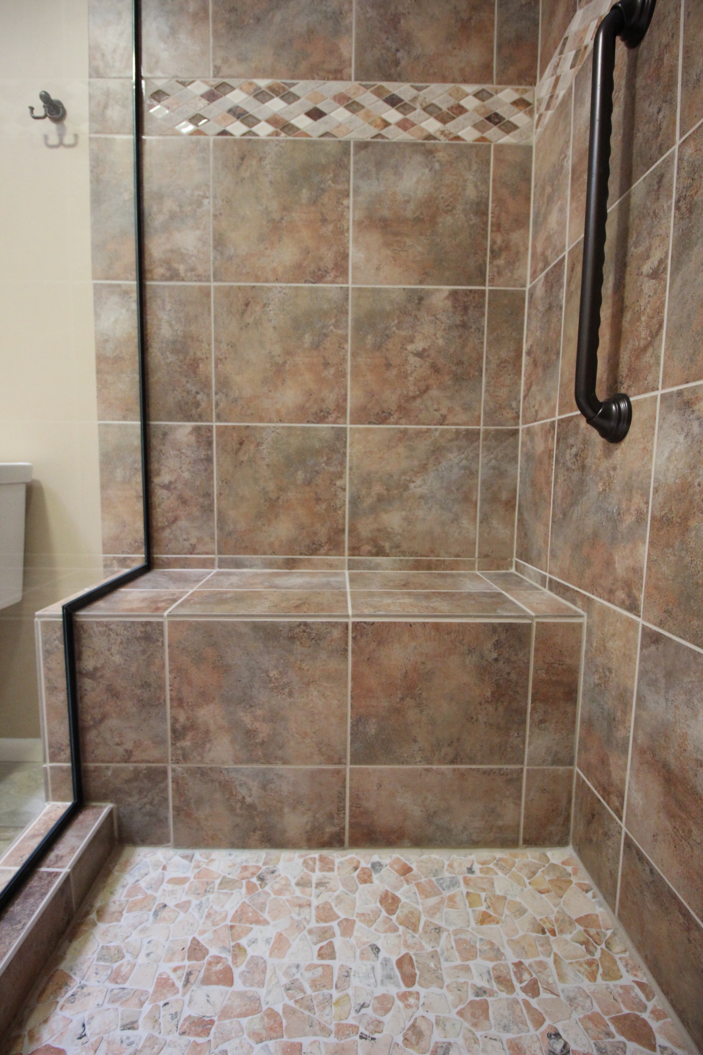 Bath Gallery Edmonds WA Large Custom Shower Seat