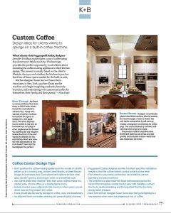 Community Remodeling Magazine Custom Coffee Feature Everett WA