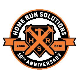 Home Run Solutions Design Build Anniversary Logo