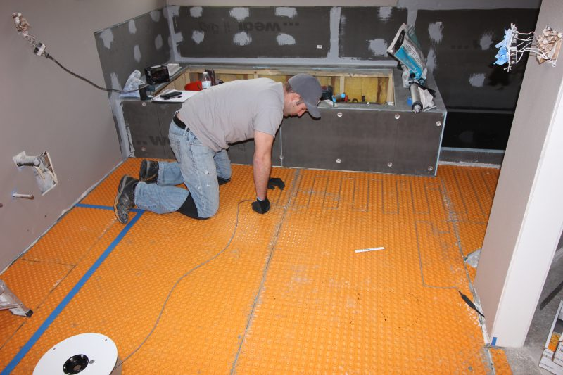 Blog DITRA-Heat tile floor installation