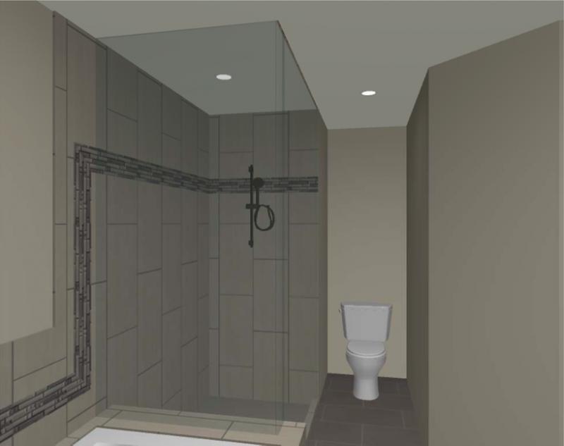Blog Shower 3D Rendering Snohomish Remodel