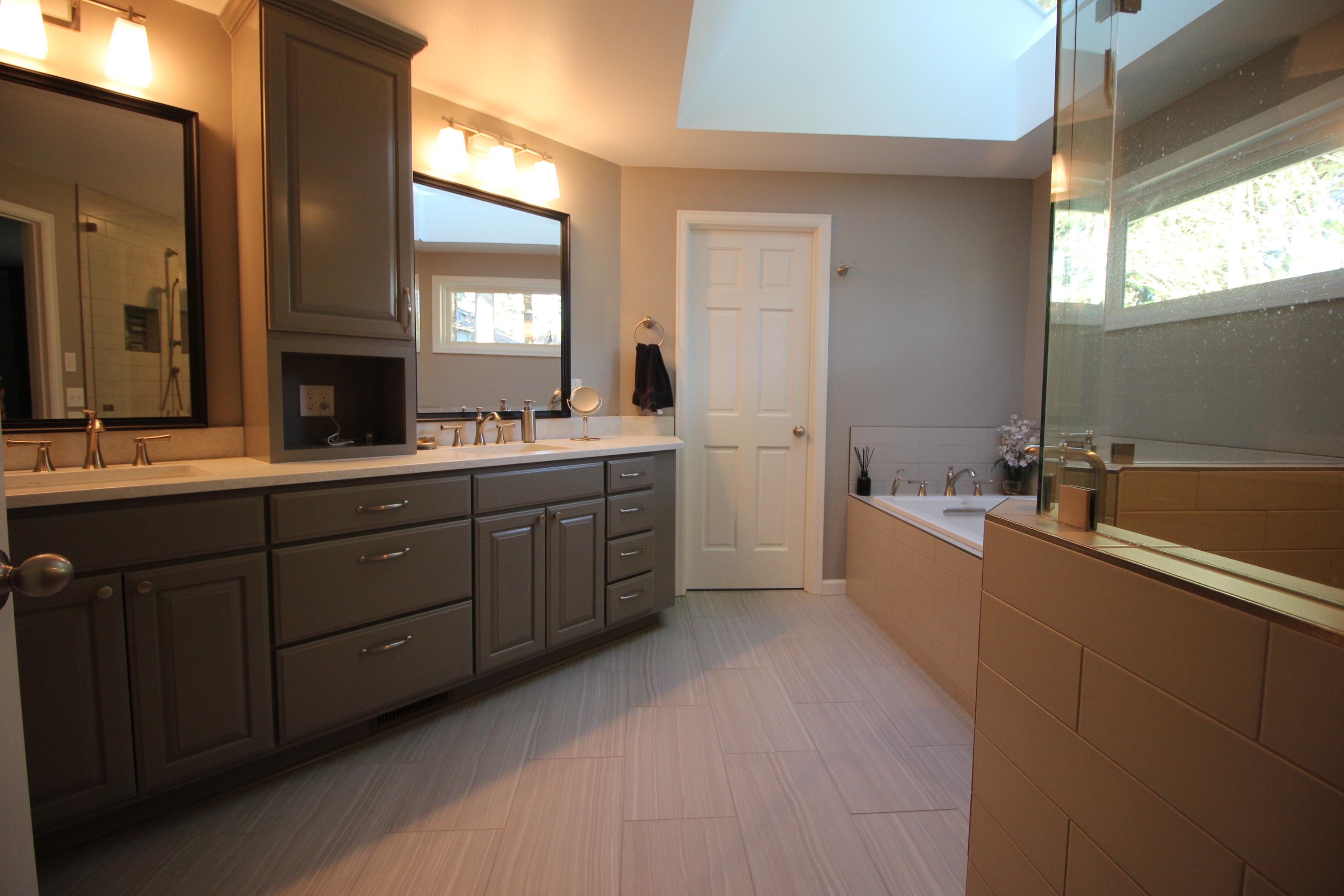 Beautiful Bathroom Renovation Gallery Canyon Creek Cabinet Maple