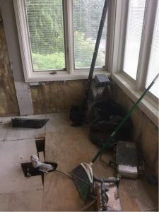 bathroom remodeling in process